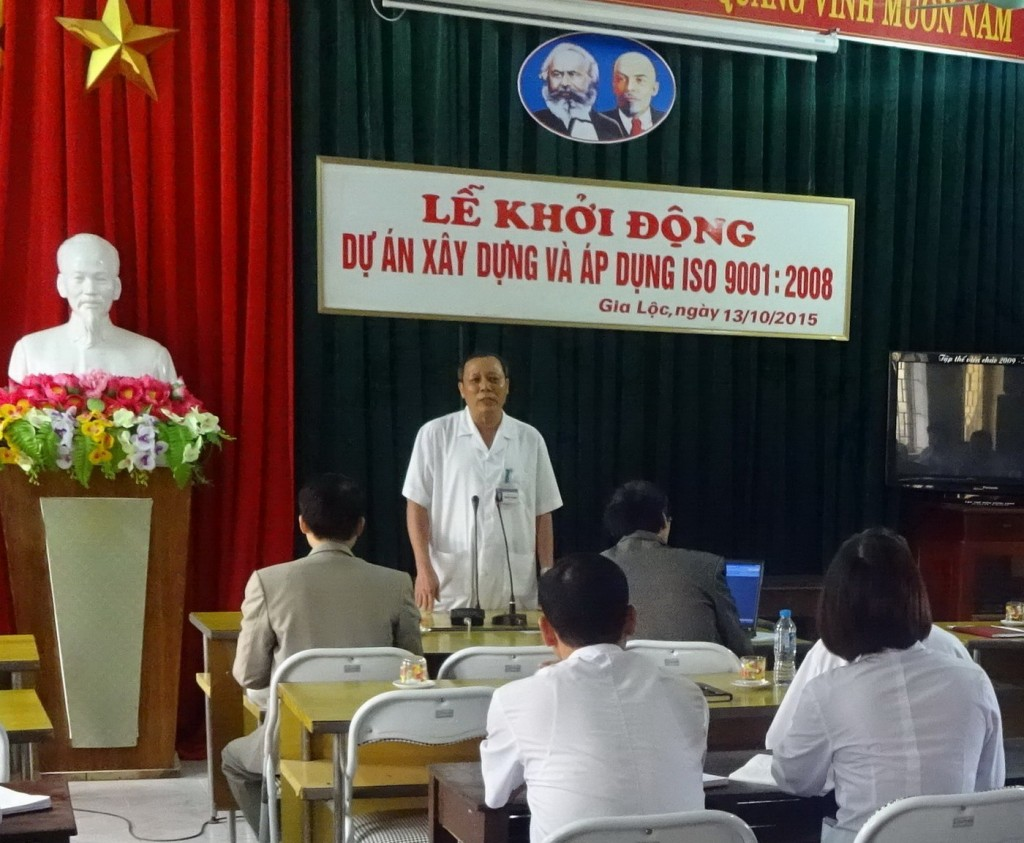 01 Benh vien Gia Loc ap dung ISO TopMan 1024x843 Bệnh viện Đa khoa Gia Lộc khởi động dự án xây dựng và áp dụng ISO 9001:2008