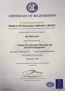 1 Dau khi Dong A nhan chung chi ISO 9001 2015 TopMan tu van 216x300 Công ty TNHH Dầu khí Đông Á nhận chứng chỉ ISO 9001:2015