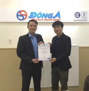 3 Dau khi Dong A nhan chung chi ISO 9001 2015 TopMan tu van 292x300 Công ty TNHH Dầu khí Đông Á nhận chứng chỉ ISO 9001:2015