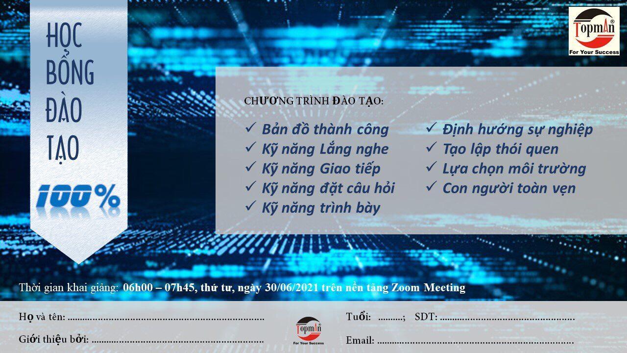 3 Hoc bong dao tao ky nang phat trien ban than ĐÀO TẠO KỸ NĂNG 21 NGÀY PHÁT TRIỂN BẢN THÂN QUA ONLINE
