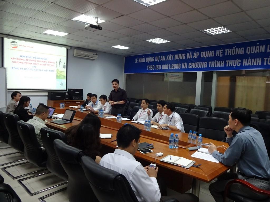 ISO 9001 5S TopMan Anycar 01 1024x768 Ô Tô Anycar Việt Nam triển khai Hệ thống quản lý ISO 9001:2008 và 5S